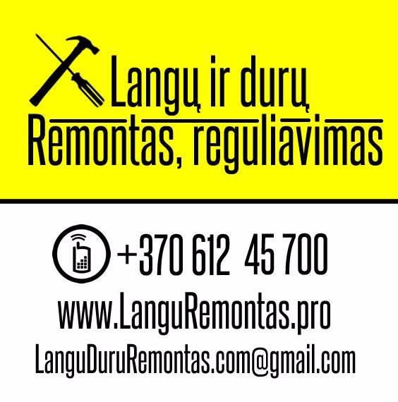 PLASTIKINIŲ LANGŲ REMONTAS 861245700