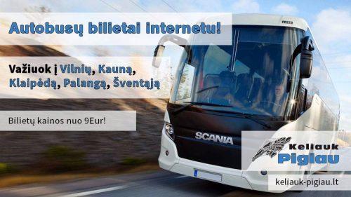 Autobusai: Vilnius – Kaunas –  Palanga – Šventoji.