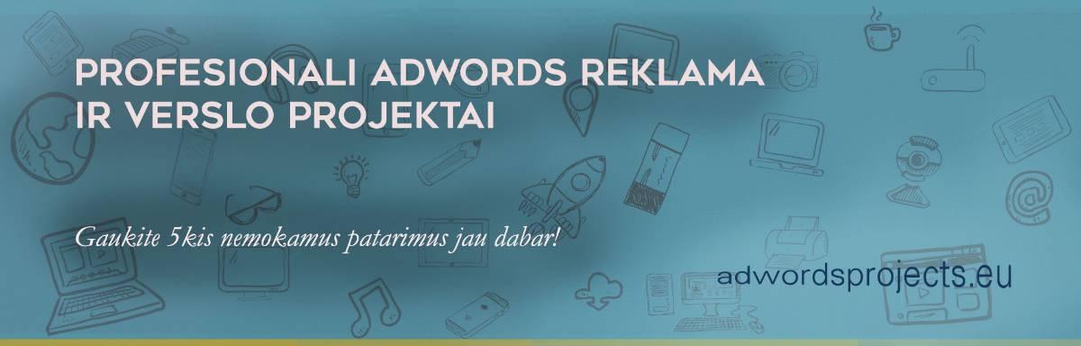 Adwords kampanijų kūrimas ir priežiūra