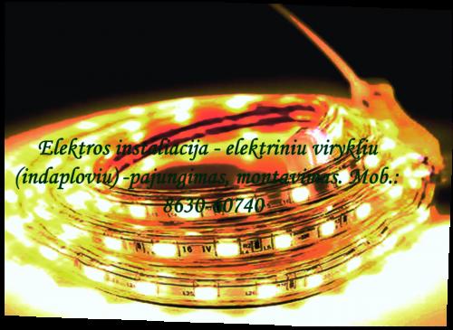 Elektrikas Vilniuje. Mob.8630-60740 — E LEKTROS INSTALIACIJOS DARBAI El. plytu prijungimas