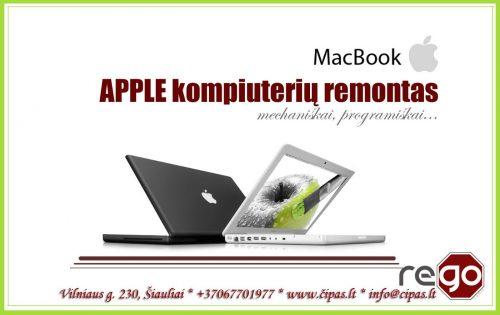 Apple nešiojamų, stacionarių kompiuterių, telefonų remontas, Šiauliai