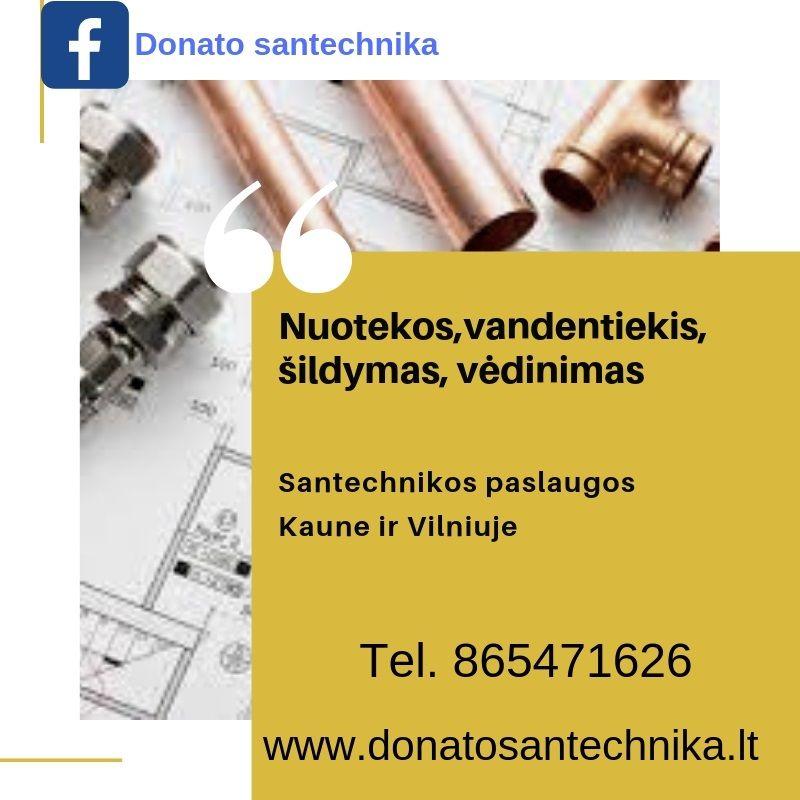 www.donatosantechnika.lt santechniko paslaugos Kaune ir Vilniuje
