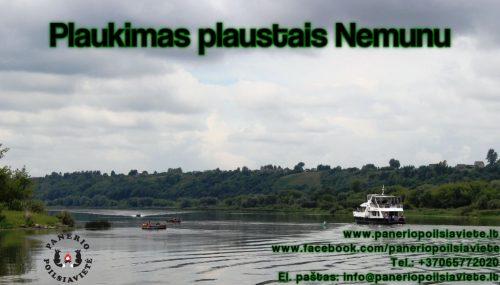 Plaukimas plaustais Nemunu, plaustų nuoma Kaune