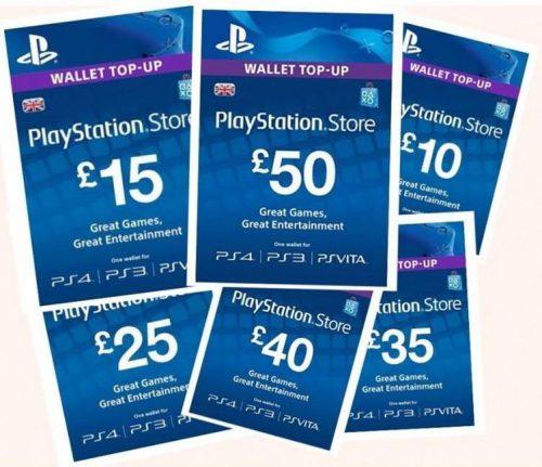 Parduodamos SONY PSN Playstation papildymo kortelės pigiau