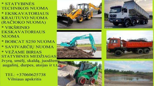 frezuotas asfaltas, augalinis sluoksnis, zvyras, smelis, skalda, atsijos 860625738 Vilnius