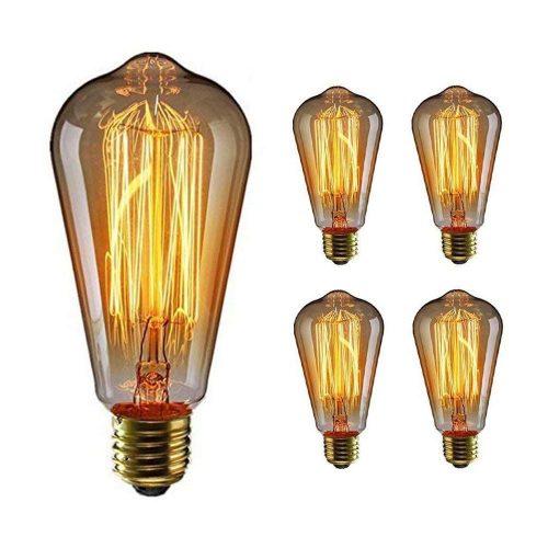 Edisono ilgaamžės kaitrinės lemputės 4vnt, gintariškai šilta,