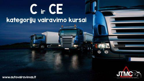 C;CE kategorijų vairavimo kursai Vilniuje