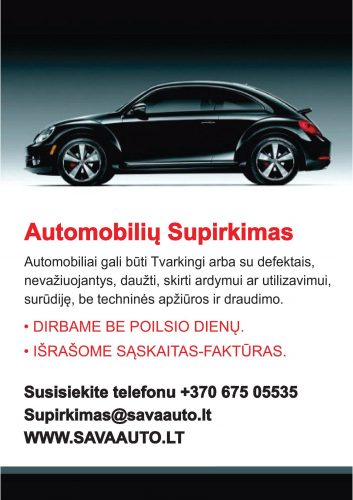 Skubus-Brangus automobilių supirkimas  37067505535