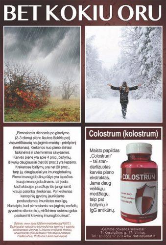 COLOSTRUM imuninei sistemai