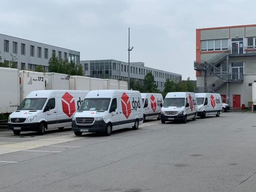 Darbas Vokietijoje vairuotojams(B) kurjeriu tarnyboje.