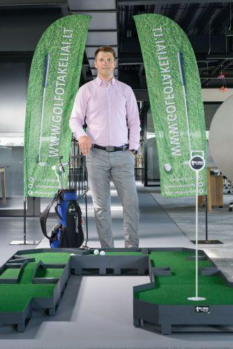 Mini golfo takeliai verslui