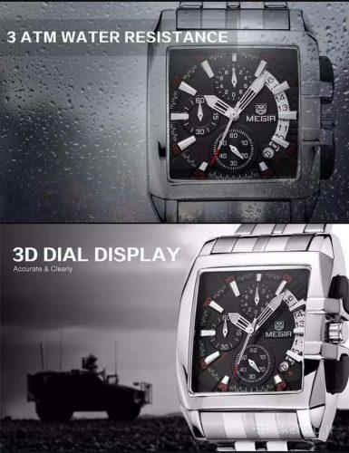MEGIR solidus išskirtinis laikrodis firminėje dėžutėje
