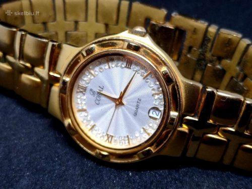 Šveicariškas auksuotas 23K CORAL laikrodis