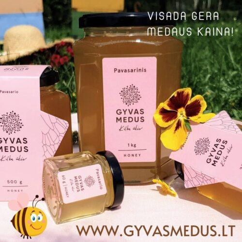 Gyvasmedus.lt šviežias ekologiškas pavasario medus – visada gera medaus kaina