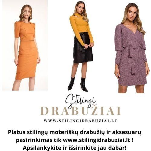 Platus stilingų drabužių asortimentas